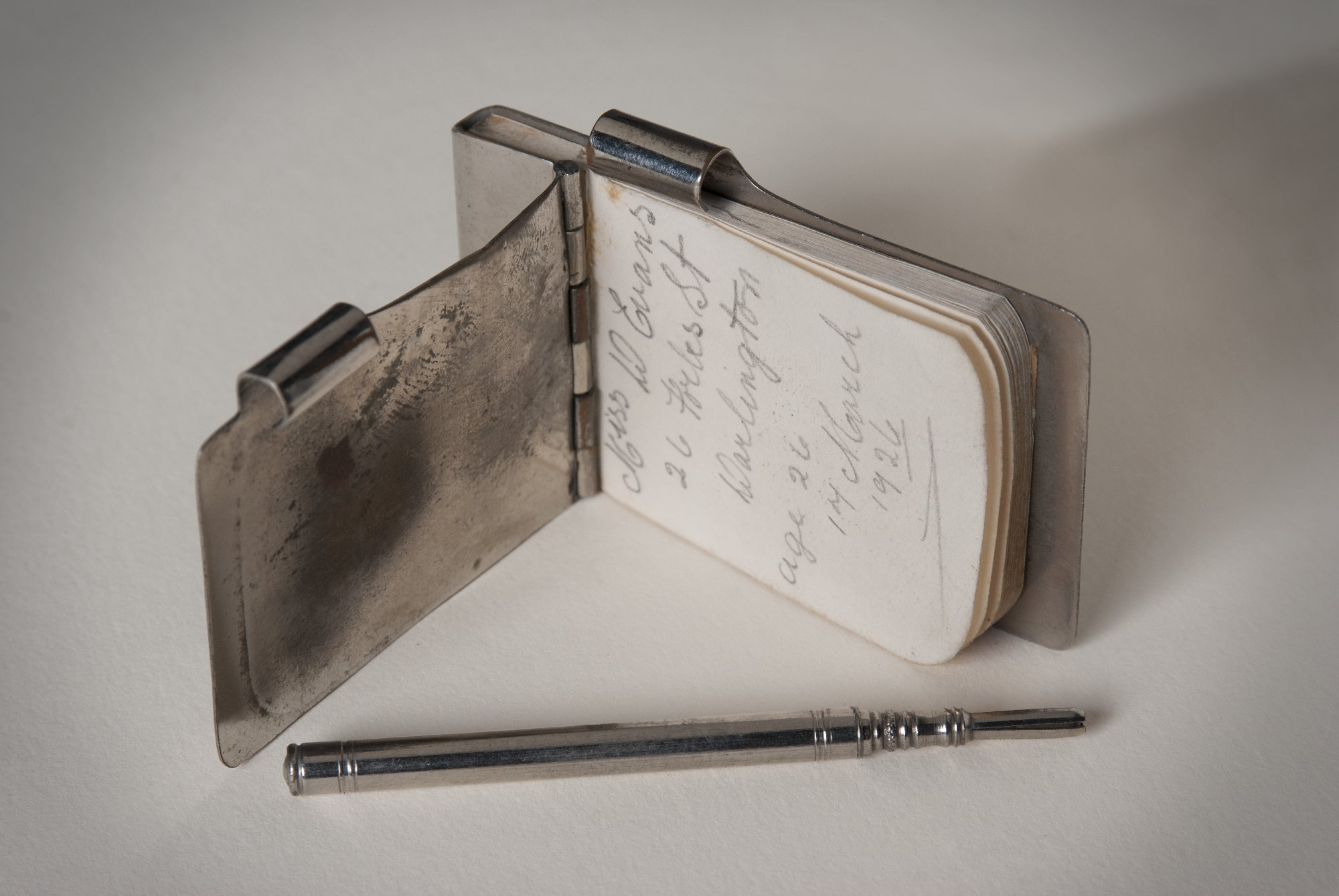 A silver notebook found in a divorce file