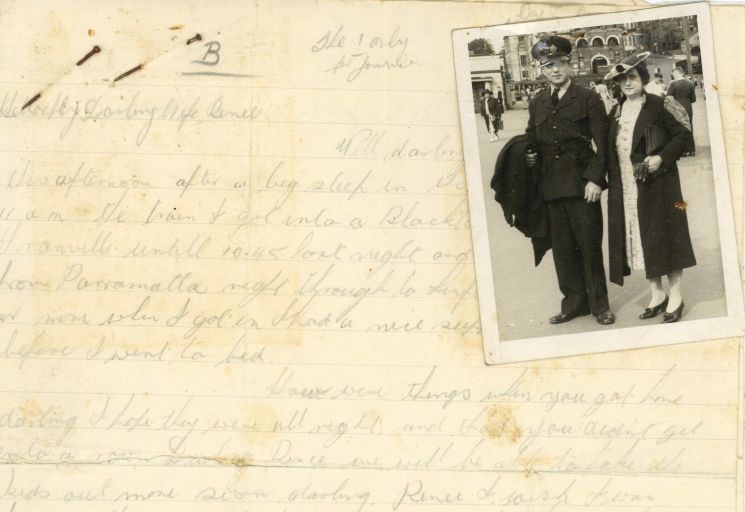 Letter with photograph found in Busch divorce file NRS 13495 Item 3438-1944