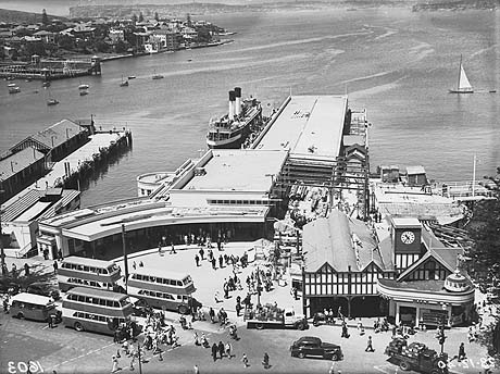 Manly Wharf under construction, 1940. Digital ID 9856_a017_A017000126