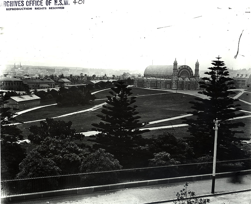 Exhibition Building at Prince Alfred Park, 1870. Digital ID 4481_a026_000364
