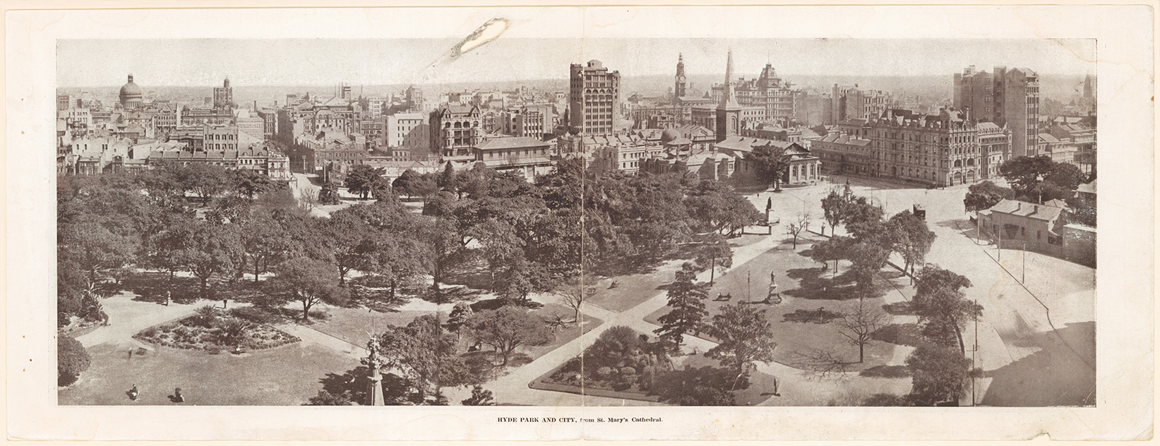 Hyde Park and City from St Mary's Cathedral, c.1915. Digital ID 20499_a050_000008