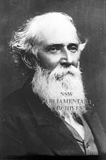 Sir John Robertson (1816-1891). Image courtesy of NSW Parliamentary Archives