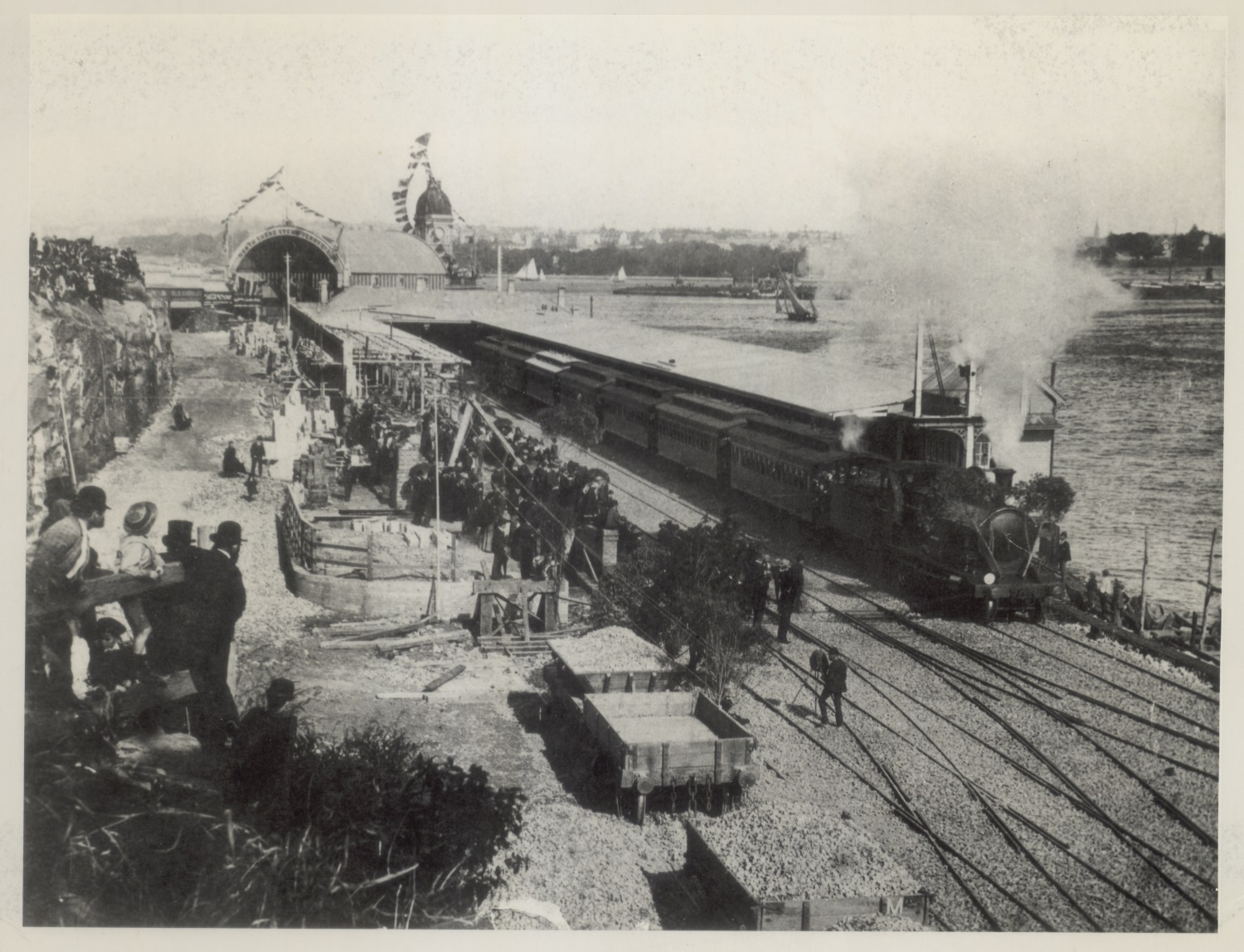 Opening of Milsons Point Station, 1 May 1893. Digital ID NRS17420_1066