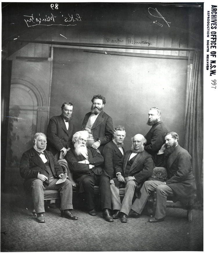 Sir Henry Parkes and members of his ministry. Digital ID 4481_a026_000784