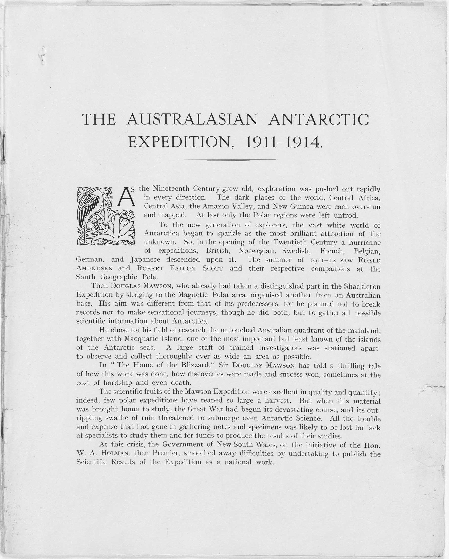 The Prospectus outlines the content of the records and the cost of each volume or a subscription to receive all records of the expedition. NRS 19745 2-995 p.2