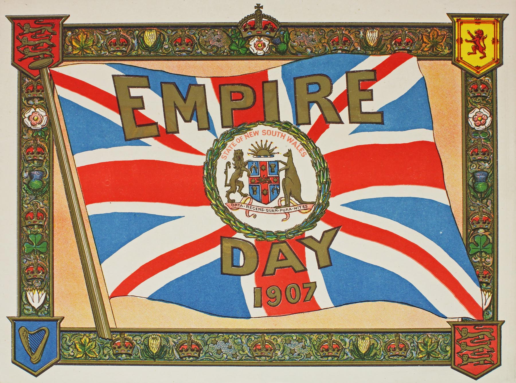 Cover of Empire Day Program, 1907. From the unregistered papers and pamphlets in Premier's Department NRS 12172, [4/6251]