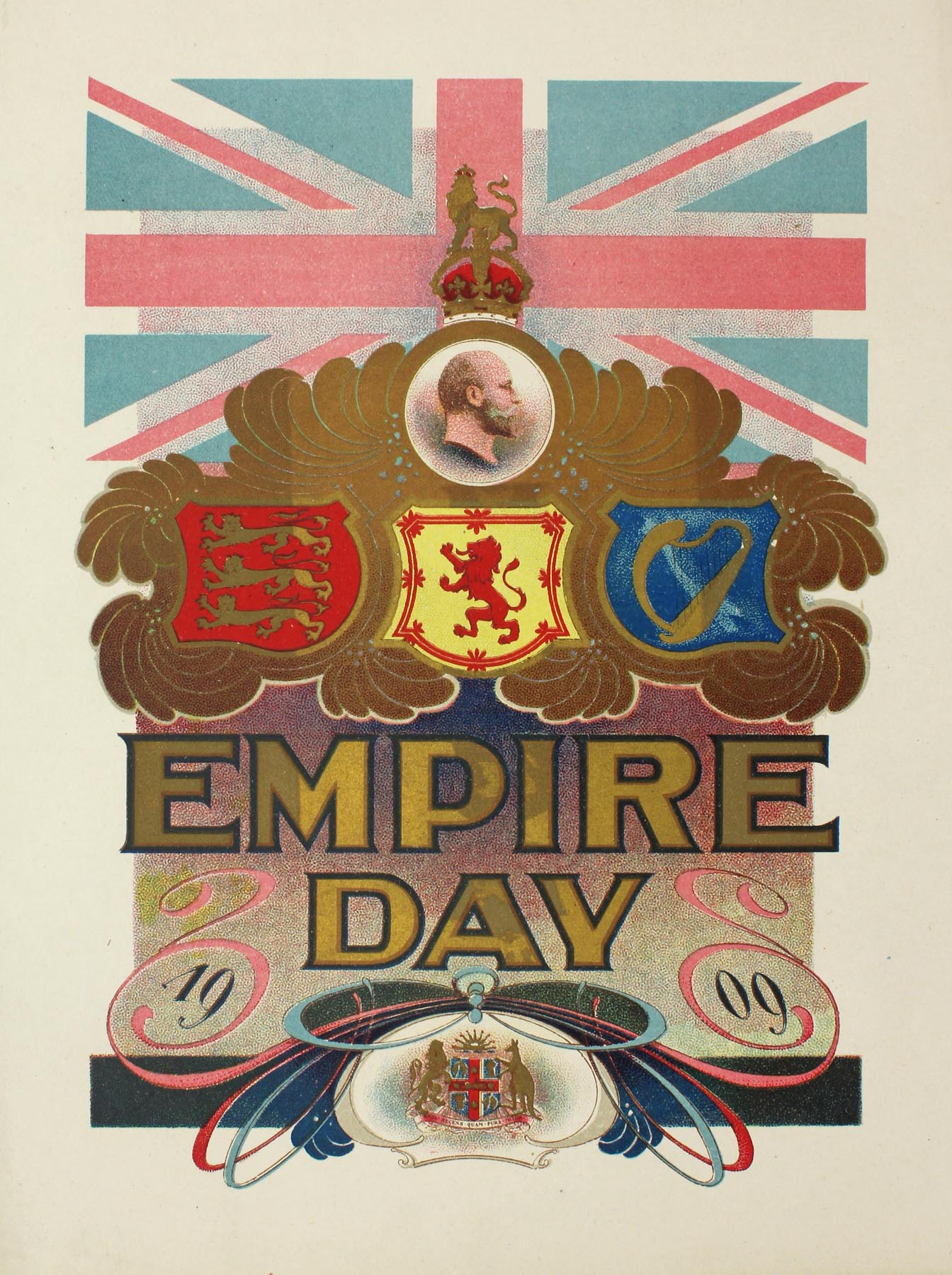 Empire Day program, 1909 (cover). From NRS 4474, [1/265]