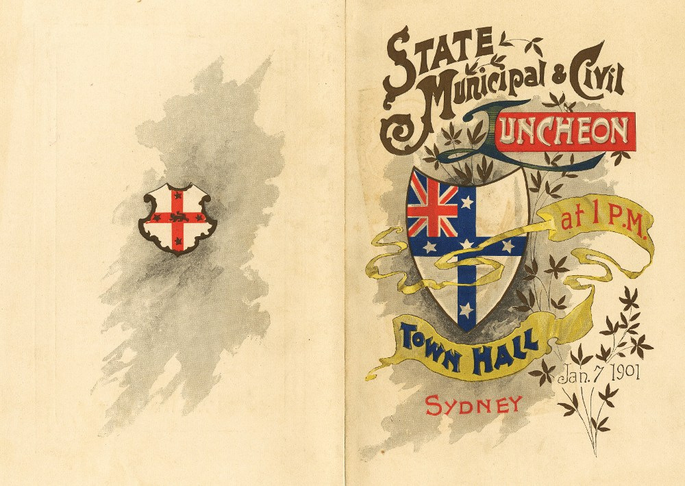 Opening of Federal Parliament. Menu cover, 1901. NRS 4473 X719