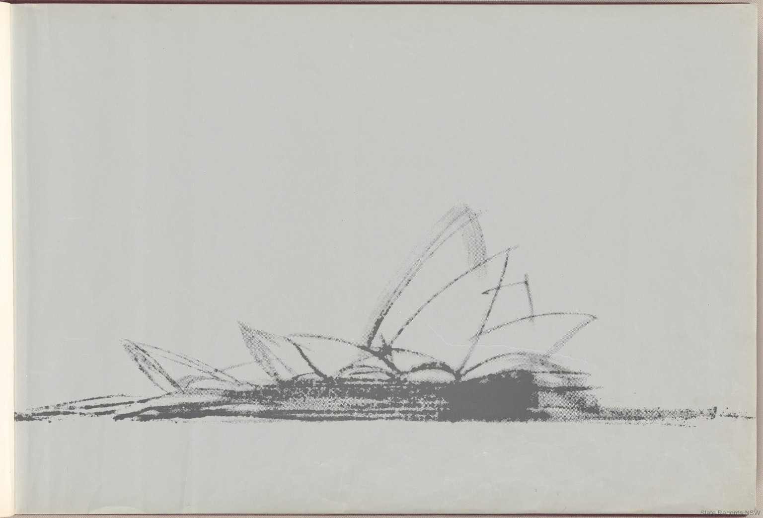 Sketch. Sydney Opera House - Red Book. NRS 12707