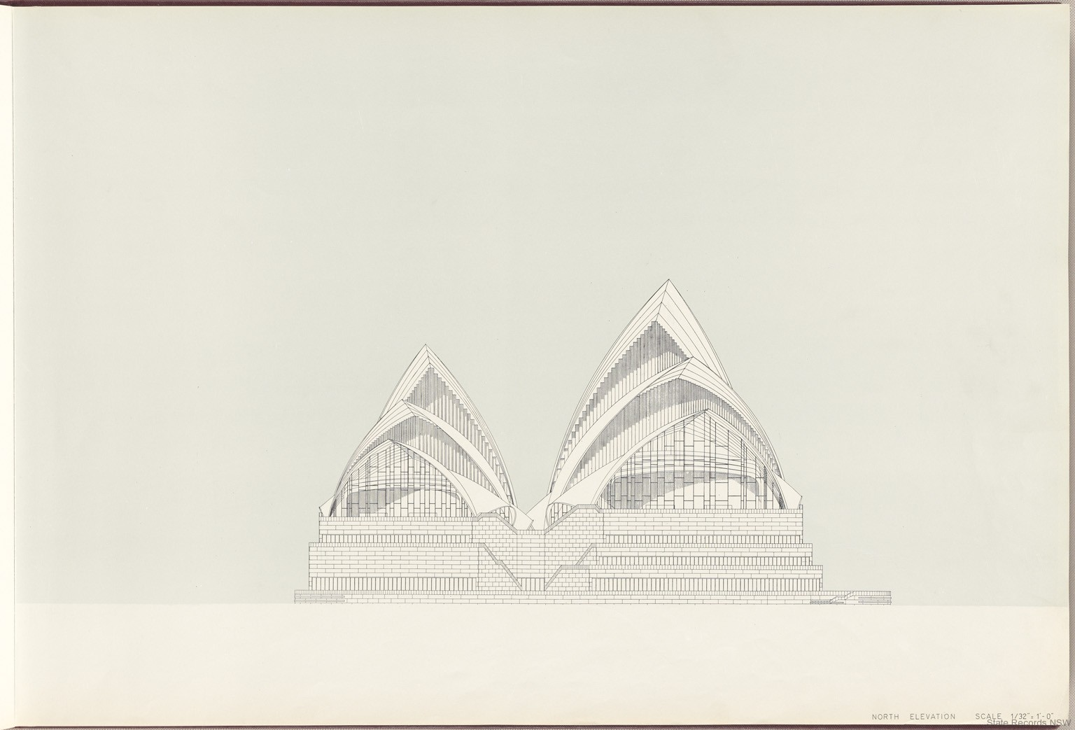 North Elevation. Sydney Opera House - Red Book. NRS 12707