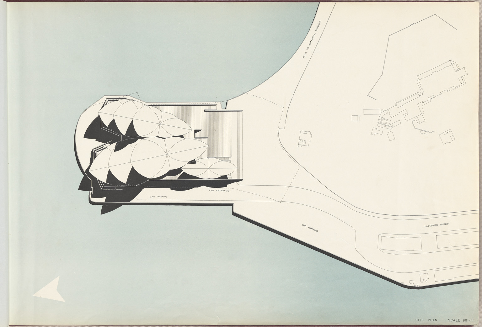 Site plan Sydney Opera House. From the Red Book, 1 Mar 1958. Digital ID