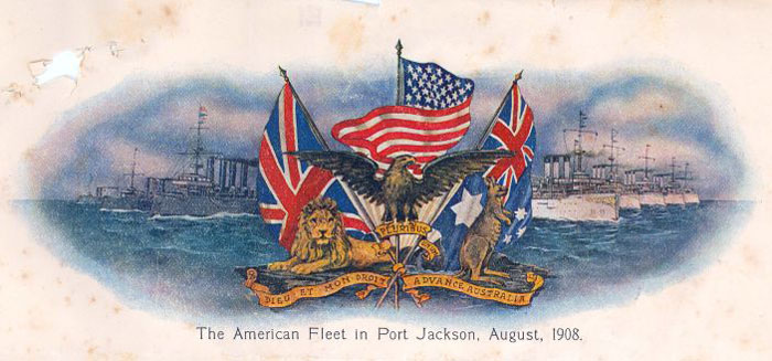 Letterhead featuring the US Fleet. From NRS 13111 [3/3095]