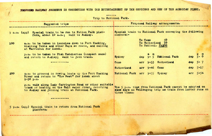 Proposed rail trip to National Park. NRS 906 [4/968]