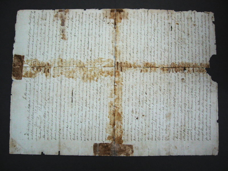 Torn document After treatment