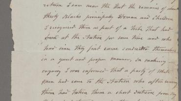 Invermein Court of Petty Sessions: Letter from William Hobbs to Police Magistrate Invermein concerning the Myall Creek Massacre. NRS 19437 SZ1053