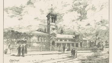 Undated sketch of Croydon Pubic School NRS-15051-1-10-[531]-9