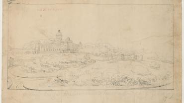 Original design for Government House supposed to be by Francis Greenway. Sketch book 8 Folio 62. Digital ID NRS13886-X770-a110-000038