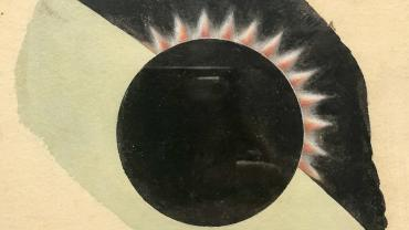 Drawing of the Transit of Venus, 1874. NRS 22146-5-1
