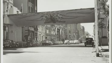 Sydney streets decorated for the 1954 Royal Visit