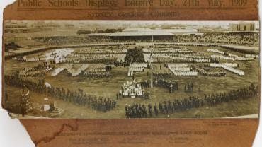 Public Schools Display at the Sydney Cricket Ground, Empire Day, 24 May, 1909. NRS 15051