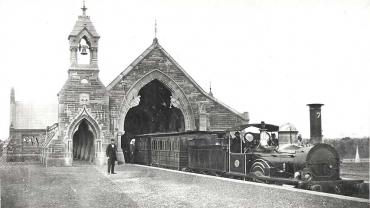 No. 1 Mortuary Railway Station, 1865. Funeral Train at station. Digital ID 17420_a014_a014000306