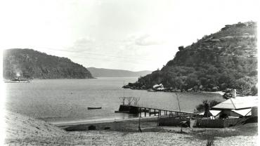View showing jetty and cottage used as a customs house at Broken Bay, n.d, Digital ID 4481_a026_000766