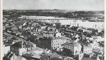 Darling Harbour from St Phillip's Church, 31 December 1870. Digital ID 17420_a014_a014001414