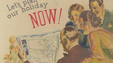 Lets Plan Our Holiday Now (cropped). Digital ID 16410-a111-5-4A-000023A