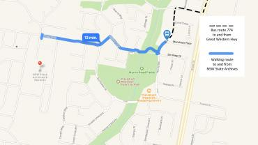 Map to Kingswood