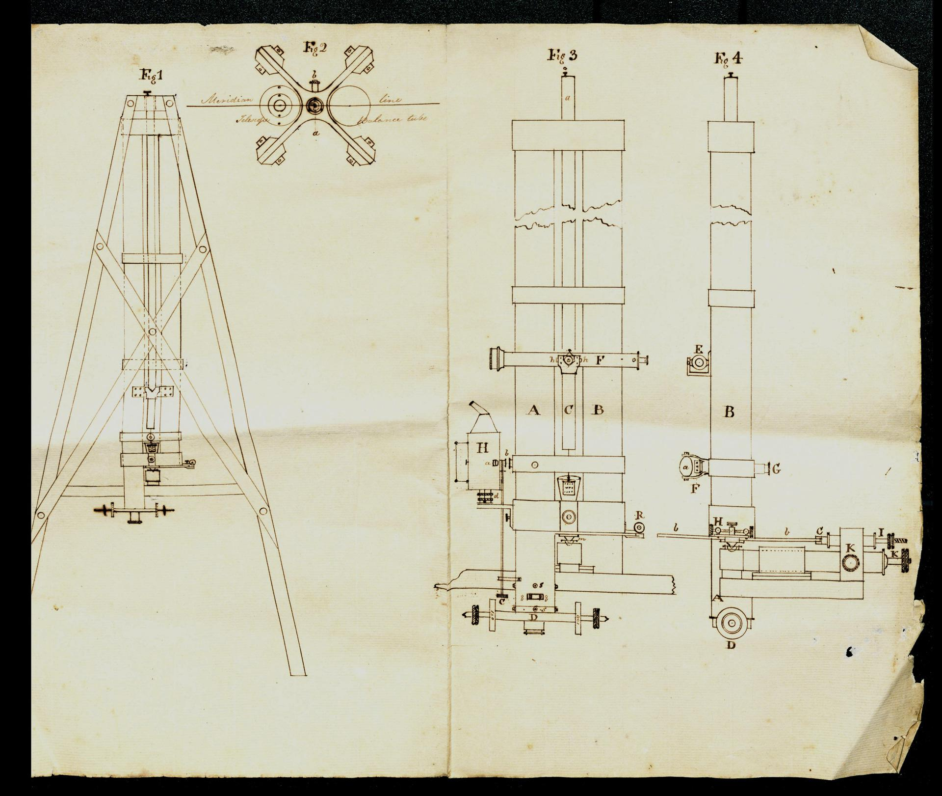 Sketch of zenith micrometer. NRS 22148-1-1-[5]
