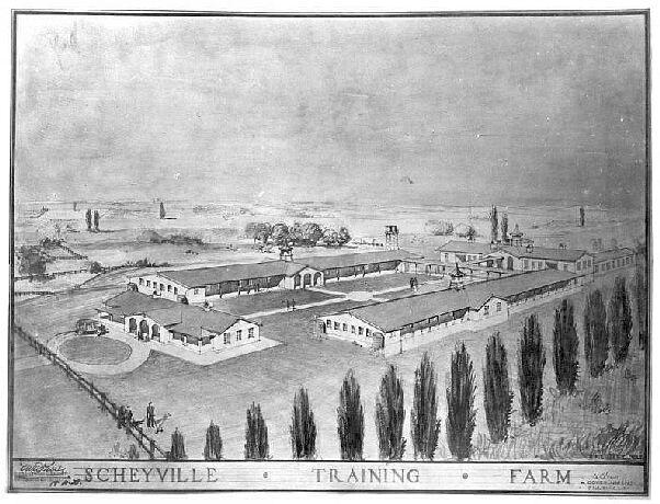 Sketch of Scheyville Training Farm, by B. Wiltshire, Designing Architect in Charge, c.1926. Digital ID 5529_a003_a003000001r