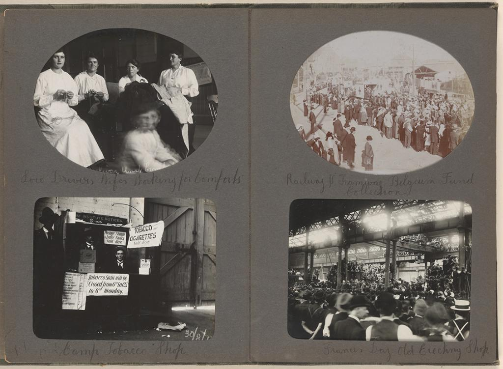 Photog album of Eveleigh Workshops during the 1917 railway strike - page 21 and 22, 3 Oct 1917. Digital ID 15309_a015_p21-22