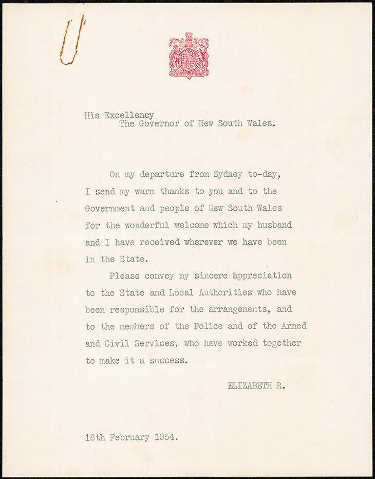 A thank you from Queen Elizabeth II. NRS4542-1[12-2043_2]_002