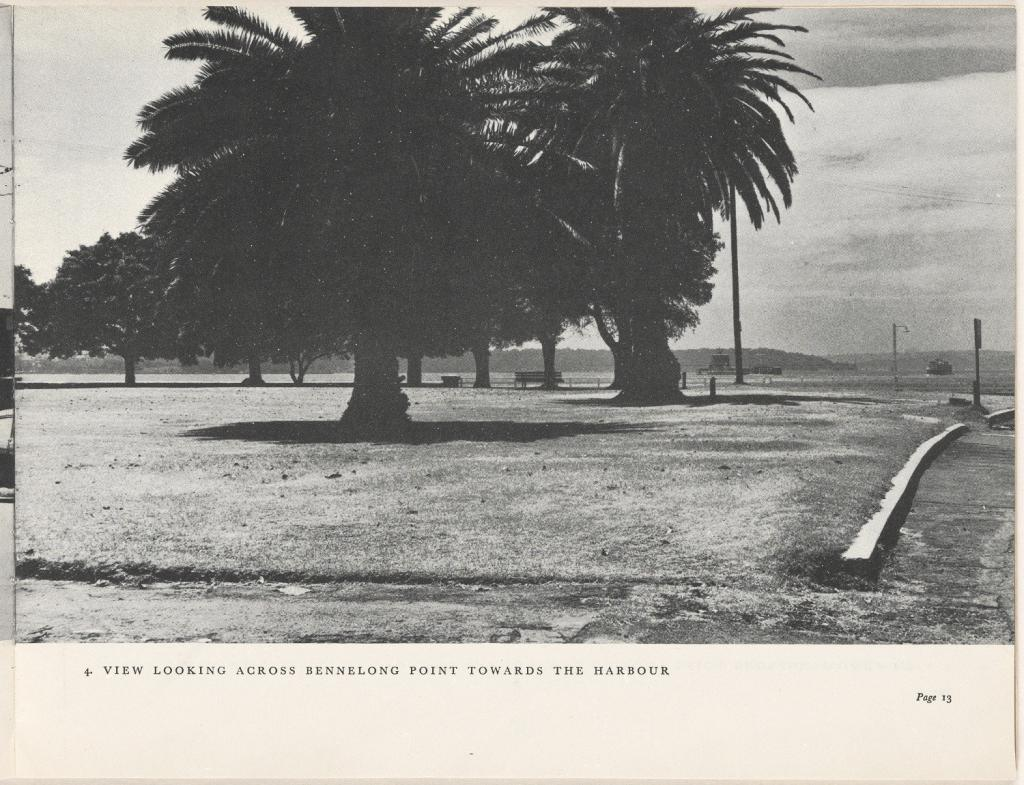 View looking across Bennelong Point towards the harbour. Sydney Opera House - The Brown Book, 1955. NRS 12702
