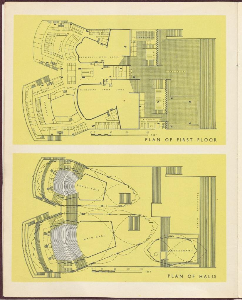 Plans of first floor and halls. NRS12706, 2-8645A