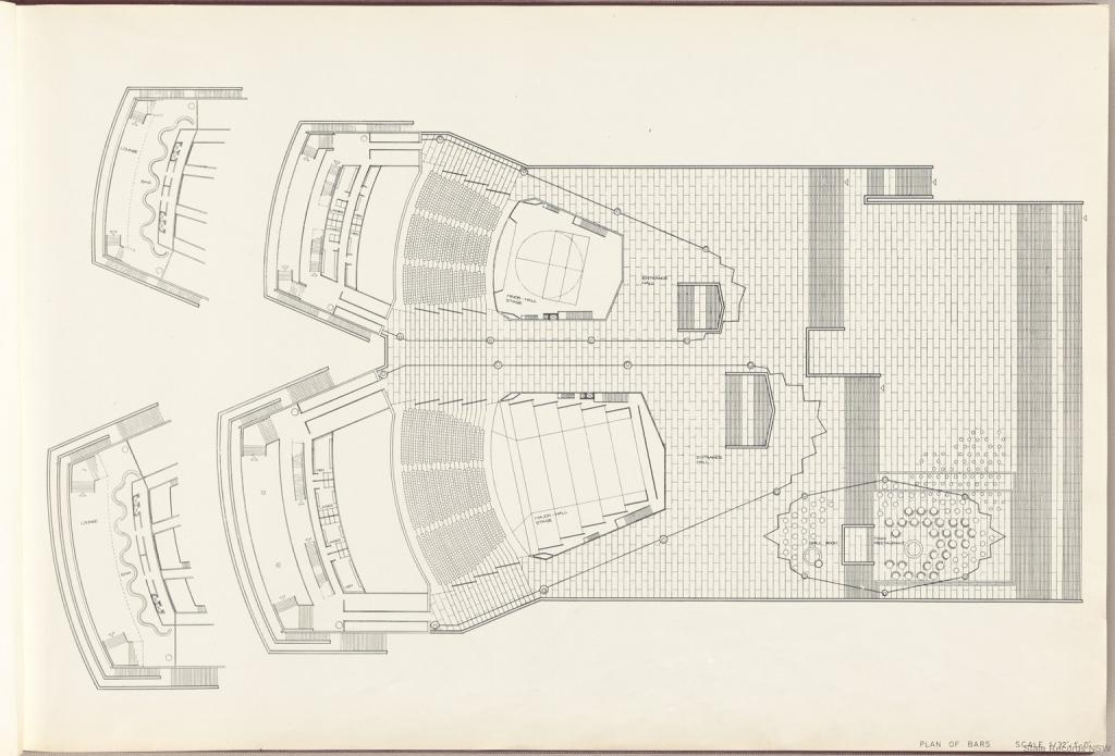 Plan of Bars. Sydney Opera House - Red Book. NRS 12707