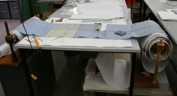 Treatment table used for the 13 metre long petition