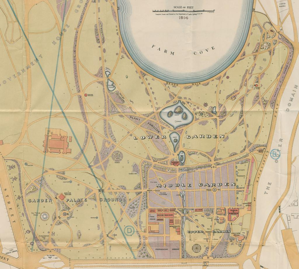 Fig. 21. (Detail) Plan of the Botanic Gardens, Sydney, 1914. From NRS 12060, [9/4699], 15/2043